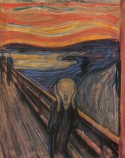 Эдвард Мунк, «Крик». С картин экспрессионистов, изображавших не материальную, а духовную реальность, началось современное искусство