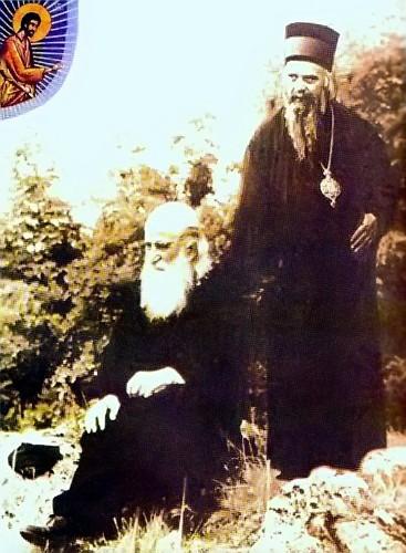 Преподобный Иустин со святителем Николаем Сербсим
