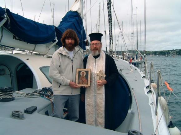 Освящение яхты перед кругосветным плаванием