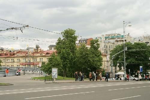 Москва. Бульварное кольцо. Площадь  Пречистенских ворот.