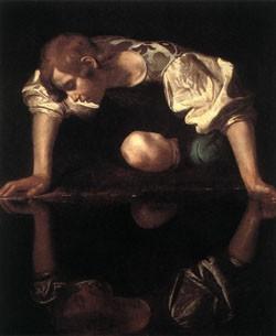 Микелянджело да Караваджо. Нарцисс. 1598-1599