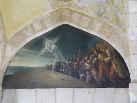 Церковь мучеников. Изображение в католической часовне на III остановке Крестного Пути, Иерусалим