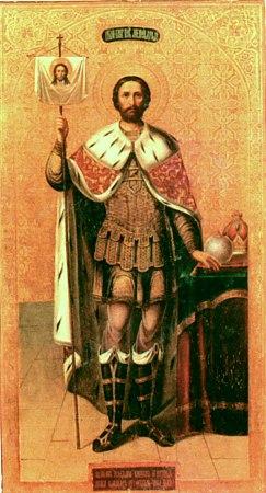 Святой благоверный князь Александр Невский. Икона 6