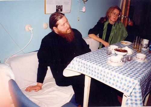 Епископ Зосима с автором статьи - Светланой Луганской