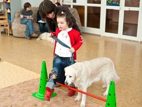 Собака чувствует, что может, а что не может сделать ребенок. Если ребенок с чем-то не справляется, то животное ему помогает. Если ребенок может, но капризничает и не хочет, то собака «слепнет», «глохнет» и просто ждет