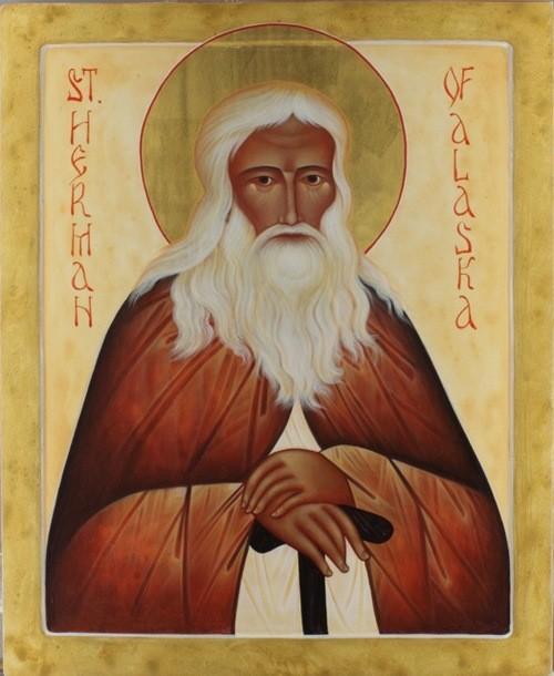 Святой Герман Аляскинский, икона работы Анны Дю Молен