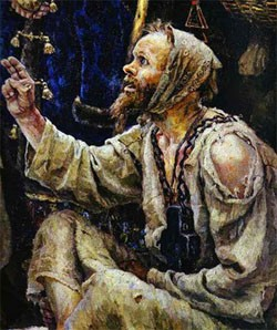 Фрагмент картины В.И. Суриков - Боярыня Морозова