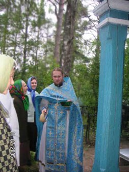 Перед молебном в часовне