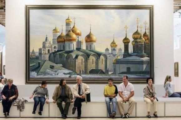 выставка Василия Нестеренко, фото: Сергей Савостьянов rg.ru