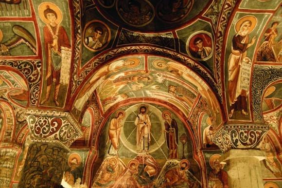 «Фреска «Преображение Христово» в Темной церкви – Каранлик в Гёреме».