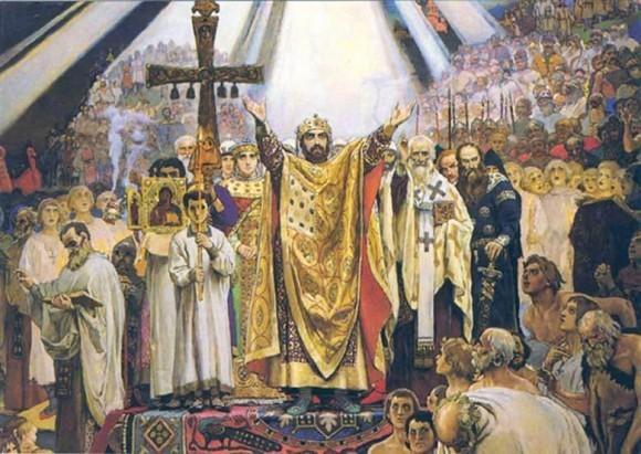 В. Васнецов. Крещение РУси