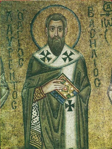 «Василий Великий. Мозаика Софийского собора в Киеве»