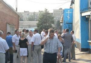 Взрыв в запорожском храме. Фото: http://korrespondent.net