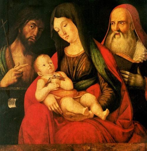 Мария с младенцем, Иоанном Крестителем и святым Иеронимом