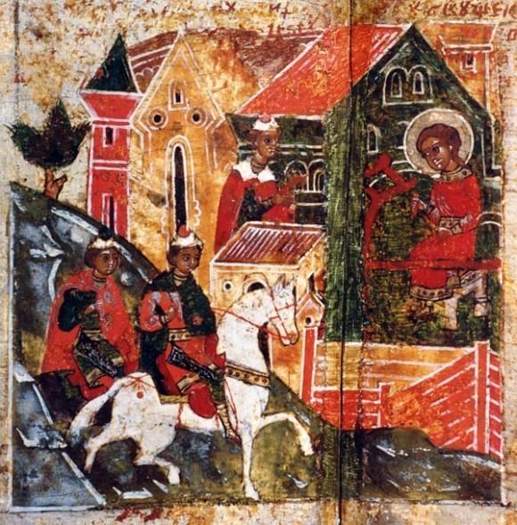 Слуга князя Петра приходит в дом к деве Февронии