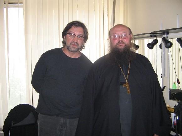 Игумен Сергий (Рыбко) с Юрием Шевчуком