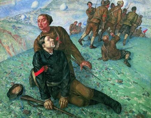 К.С. Петров-Водкин  «Смерть комиссара» 1928г.