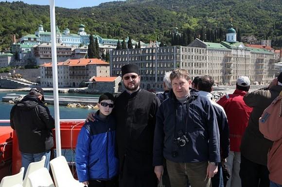 Вот наша небольшая паломническая группа: Ваня, я и Алексей.