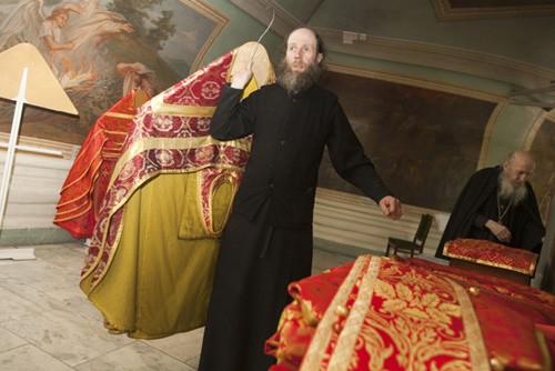 В ризнице монастыря