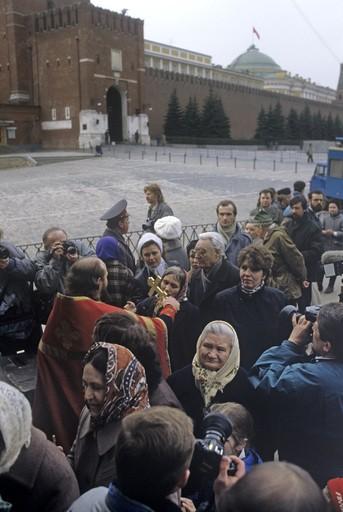 Пасха. Кремль. 1991 г. Фото: РИА Новости
