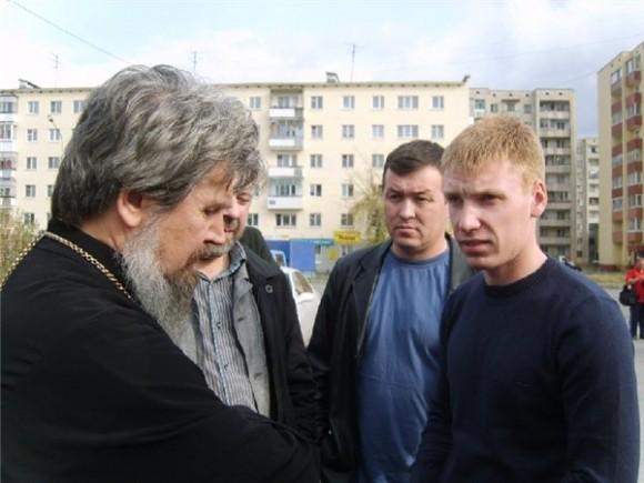 Егор Бычков с прот. Геннадием Ведерниковым