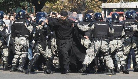 На разгоне гей-парада в Сербии