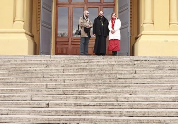 Виктор Судариков и Анна Данилова в гостях у о. Игоря Пчелинцева