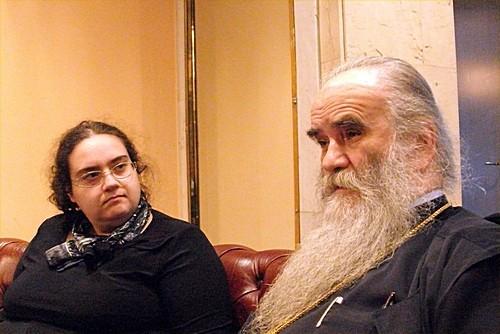 Мария Сеньчукова и владыка Амфилохий. Фото Светланы Луганской