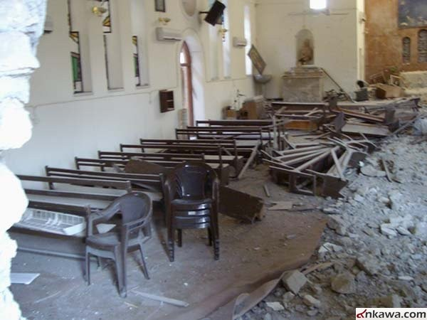 Церковь Мар Апрем после теракта. Г. Мосул, Ирак. Фото ankawa.com