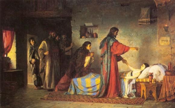 """В. Д. Поленов, """"Воскрешение дочери Иаира"""""""