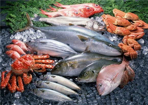 fish.  Рыба и морепродукты - источник белка в Рождественский пост.