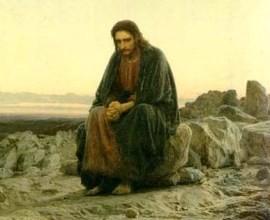 Христос в пустыне. И. Н. Крамской