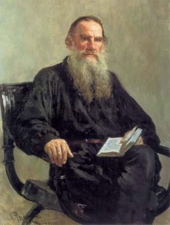 Илья Ефимович Репин. Портрет писателя Льва Николаевича Толстого