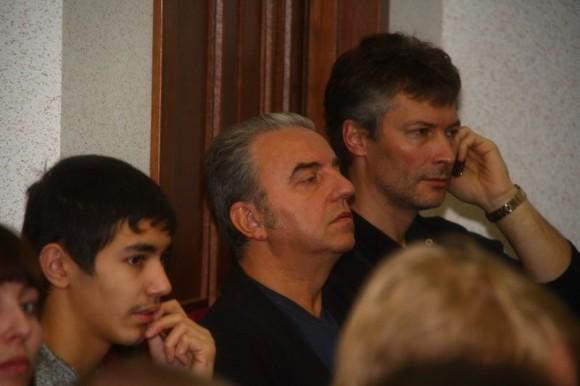 Владимир Шахрин и Евгений Ройзман в зале суда. Фото: http://igorgrom.livejournal.com/