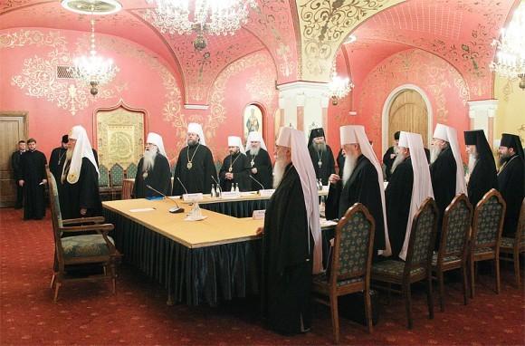 Молитва перед началом заседания Президиума Межсоборного присутствия