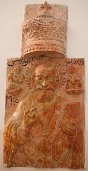 Каменное изображение святителя Николая. Фото Юлии Маковейчук
