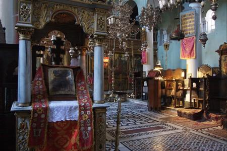Интерьер базилики Преображения в монастыре, где хранятся мощи святой Екатерины