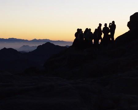 Встреча рассвета на горе Хорив