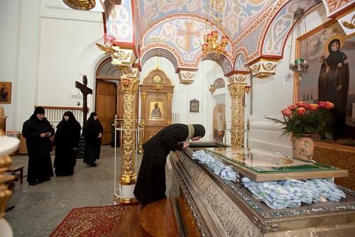 Сейчас мощи преподобной находятся в Крестовоздвиженском соборе Свято-Евфросиниевского монастыря