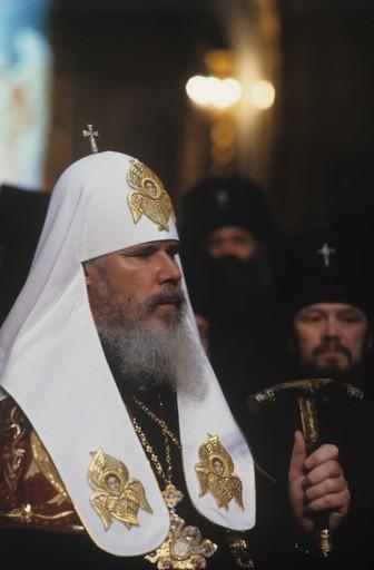 Патриарх Алексий в день интронизации. Фото РИА Новости
