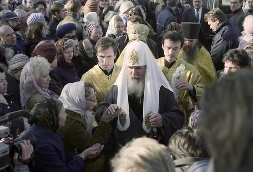 Патриарх Алексий в 1993 году во время Конституционного кризиса