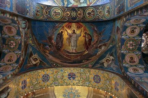 Фрагмент мозаики собора Спаса-на-Крови на сводах храма