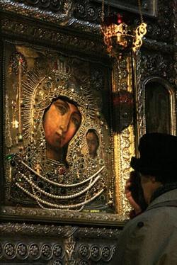 Образ Казанской Божией Матери в Казанском соборе – список с иконы, явленной в Казани в 1576 году