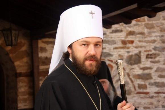 Митрополит Иларион в монастыре Ксенофонт на Афоне. Фото: mospat.ru