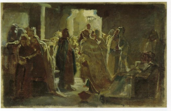 Христос в синагоге. Н. Ге