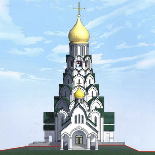 Таким будет храм Новомучеников и Исповедников Российских, который вскоре будет построен на этом месте