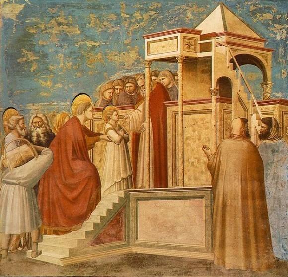 Введение во Храм Пресвятой Богородицы. Джотто, капелла Скровеньи
