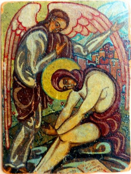 Икона прп. Марии Египетской, написанная матерью Марией перед постригом