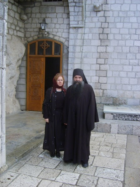 Архимандрит Лука (Анич) и Светлана Луганская