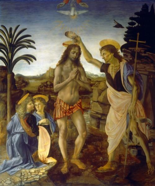 Крещение Господне. Анреа дель Вероккья